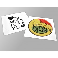 Free stickers included
